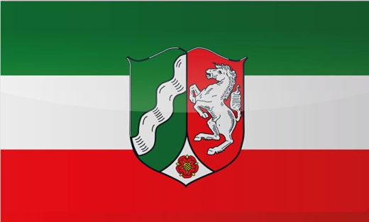 Länderflagge Nordrhein-Westfalen
