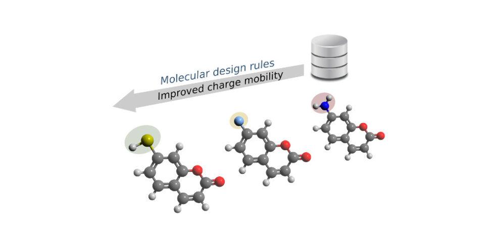Mit Algorithmen lässt sich die wahrscheinliche Leitfähigkeit berechnen. Sowohl das Kohlenstoff-Grundgerüst der Moleküle als auch die funktionalen Gruppen können die Leitfähigkeit beeinflussen. Foto: C. Kunkel / TUM