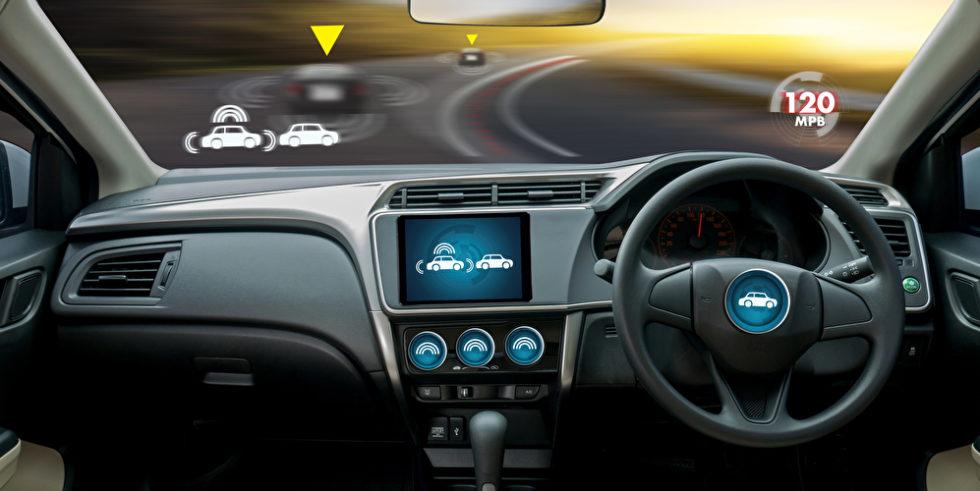 Illustration Cockpit autonomes Fahrzeug