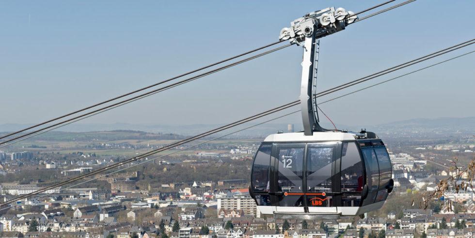 Seilbahnen als urbane Mobilitätslösung? Das gibt es nicht nur in Millionenstädten wie La Paz und Ankara - auch Koblenz betreibt weiterhin die Seilbahn der Bundesgartenschau 2011.