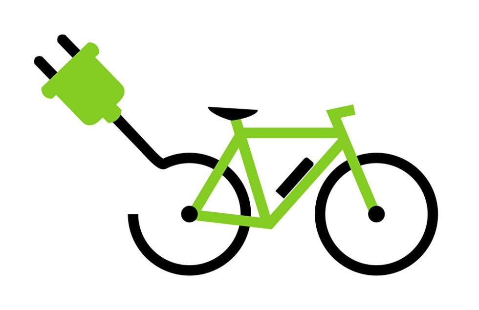 Illustration eines E-Bikes