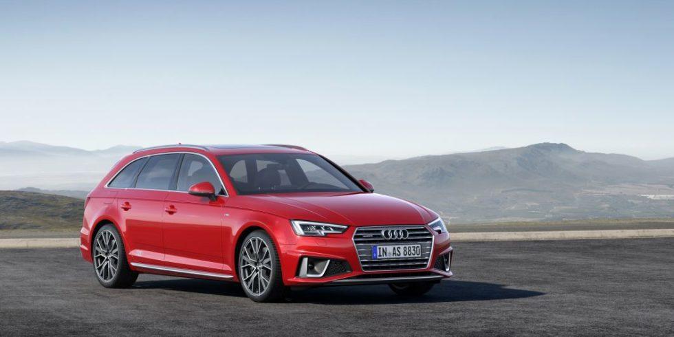 Beliebter Dienstwagen Audi A4 in rot