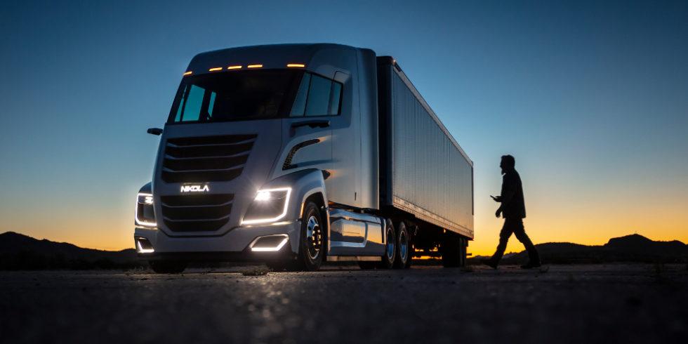 Bild des Wasserstoff-Trucks