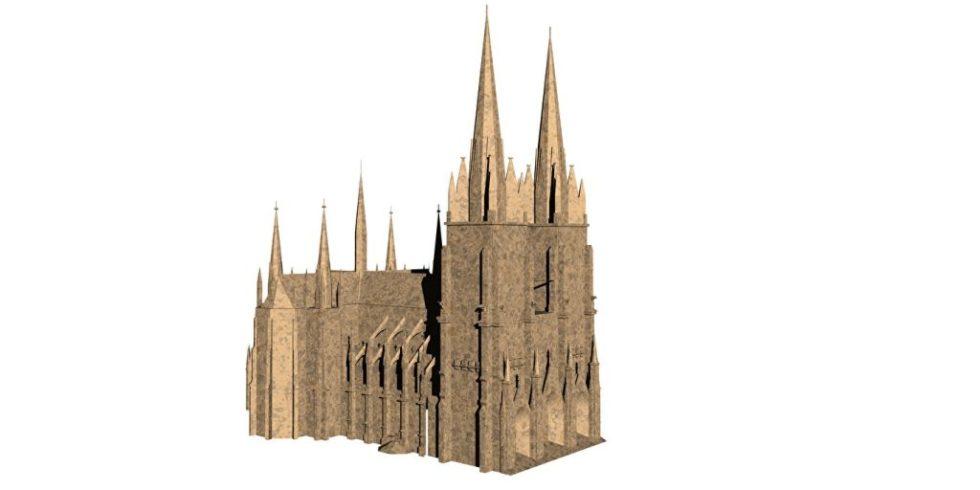 Kölner Dom als freigestelltes 3D-Modell