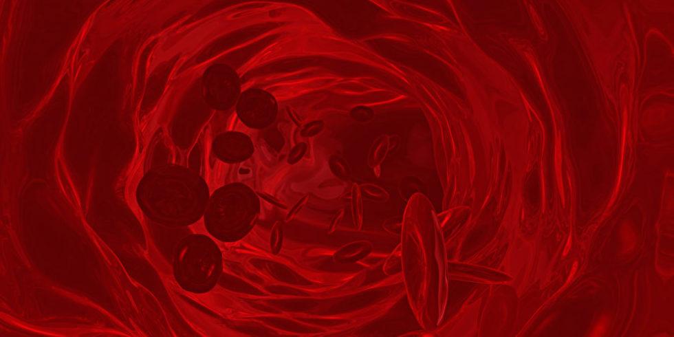 Illustration Blutgefäß von innen