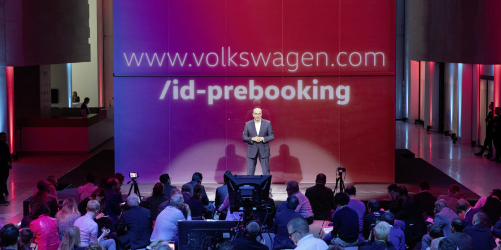 Begleitendes Event zum Prebooking des ID.3 Foto: Volkswagen AG