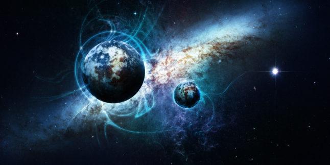 Weltall mit Planeten