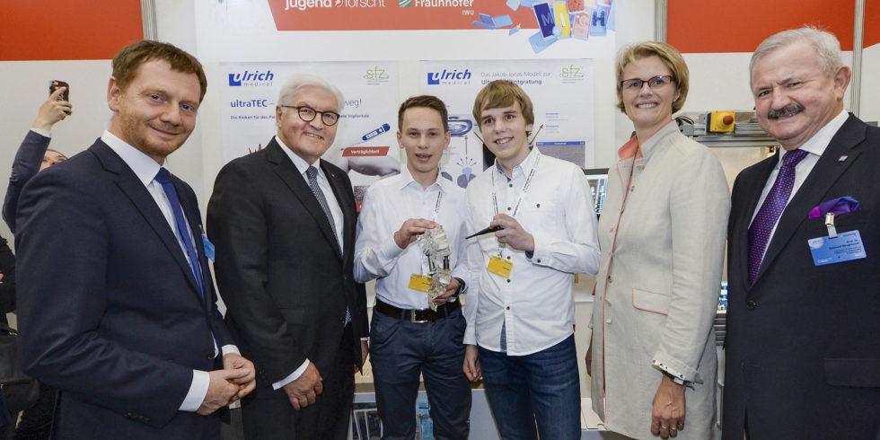 Das Siegerfoto des Bundeswettbewerbs Jugend forscht