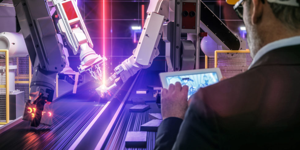 Roboter der Smart Automation Industrie