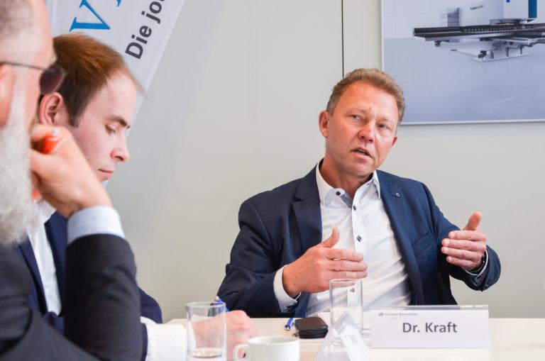 Dr. Dieter Kraft, Geschäftsführer von Trumpf Venture, sieht eine Ungleichbehandlung von Investitionsförderung in Europa. Foto: Joschka Völkel/mylk+honey