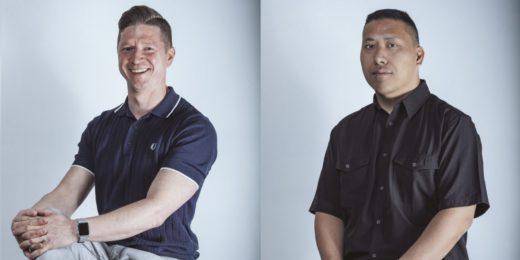 Porträts der Gründer Jay Giraud und Dom Kwong
