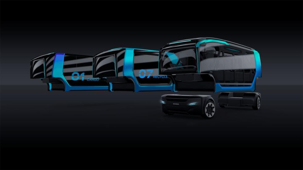 Die Module des Scania Fahrezeugs