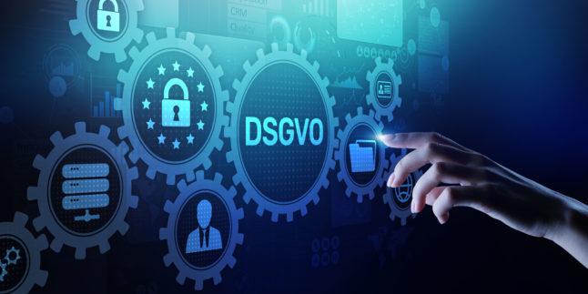 Datenschutzgrundverordnung online Zahnrad Zahnräder Sicherheit Privatsphäre