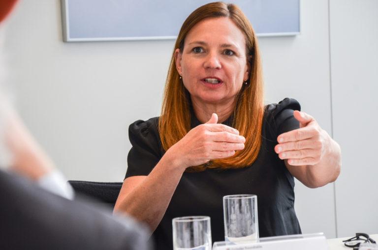 Marie-Helene Ametsreiter weiß, wie zahlreich die Fehler bei Gründern sind.<br />Foto: Joschka Völkel/mylk+honey