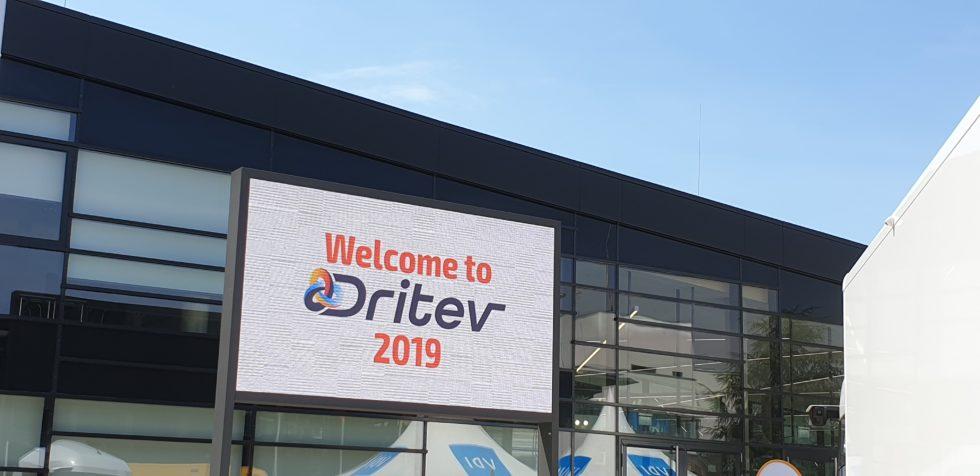 Schild Welcome to Dritev 2019
