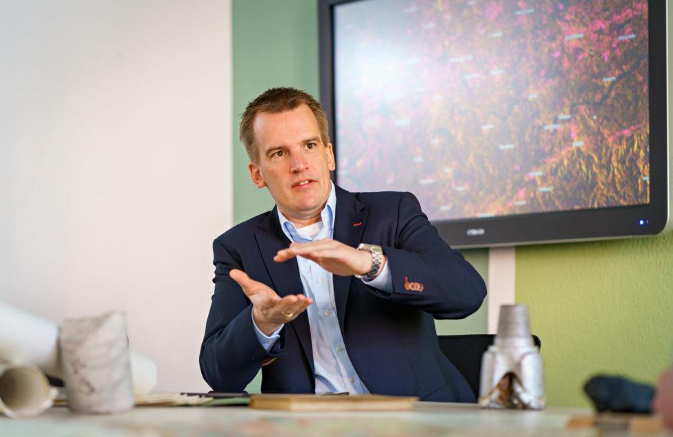 In seiner Stiftungsprofessur, gefördert durch die RAG-Stiftung, befasst sich gibt Prof. Dr. Tobias Rudolph insbesondere mit dem Thema Geomonitoring