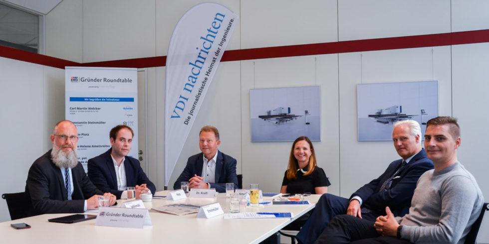 Gründer-Roundtable mit Investoren, Start-up- und Unternehemsnvertretern