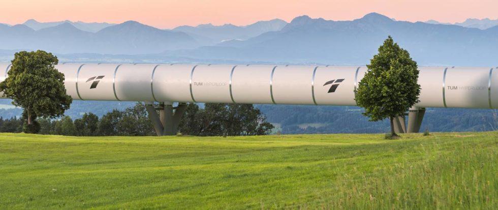 Hyperloop Strecke in Bayern