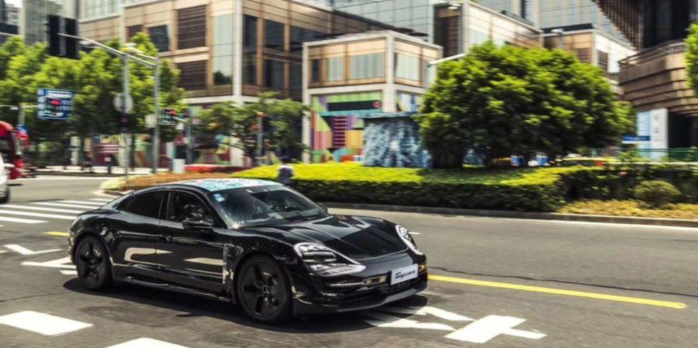 Porsche Taycan in Shanghai