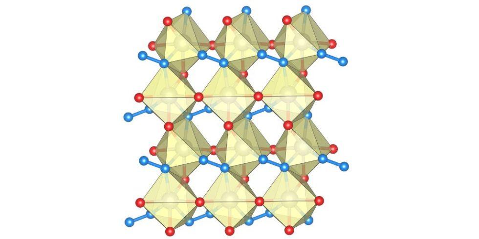Struktur des Rhenium-Nitrid-Pernitrids