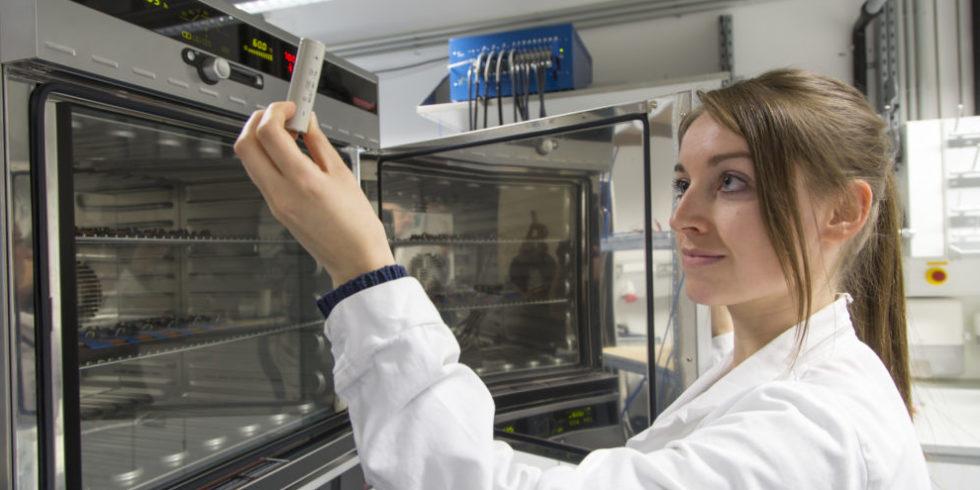 Forscher entwickelten einen Ionenleiter. Damit bewegen sich die Ionen in  Festelektrolyten in Feststoffbatterien ähnlich wie in Flüssigelektrolyten.  Foto: Lunghammer – TU Graz