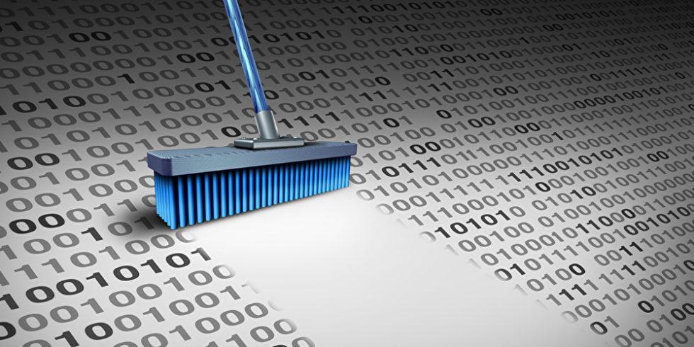 Daten wegfegen