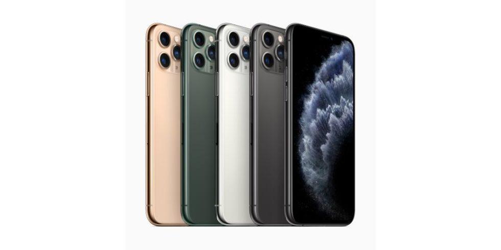 iPhone 11 Pro in gold, grün, silber, grau und schwarz