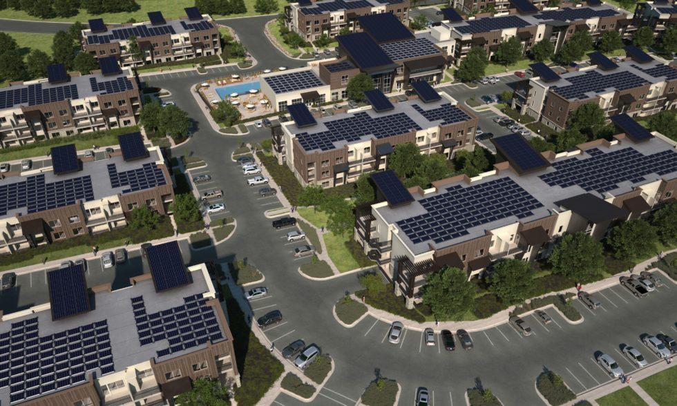 Solarsiedlung von oben