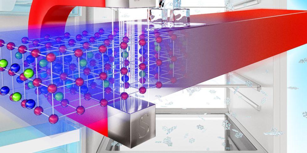 Der magnetokalorische Effekt besagt, dass bestimmte Materialien ihre Temperatur in einem Magnetfeld verändern. Foto: HZDR / Juniks