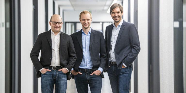 Bastian Nominacher, Alexander Rinke und Martin Klenk (Celonis SE, München).
