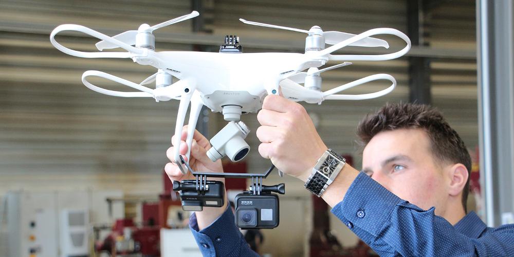 Drohne ermöglicht 3D-Erfassung von Fabriklayouts