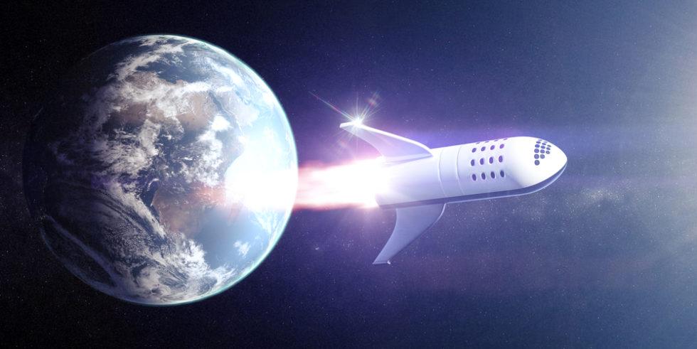 Raumfähre für Touristen umkreist die Erde
