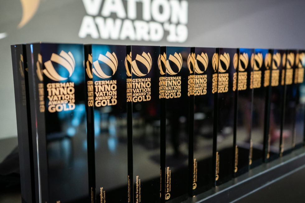 Das Label des German Innovation Award überzeugt am Markt und unter Endverbrauchern von Ihrem Produkt. Foto: Martin Diepold / Rat für Formgebung