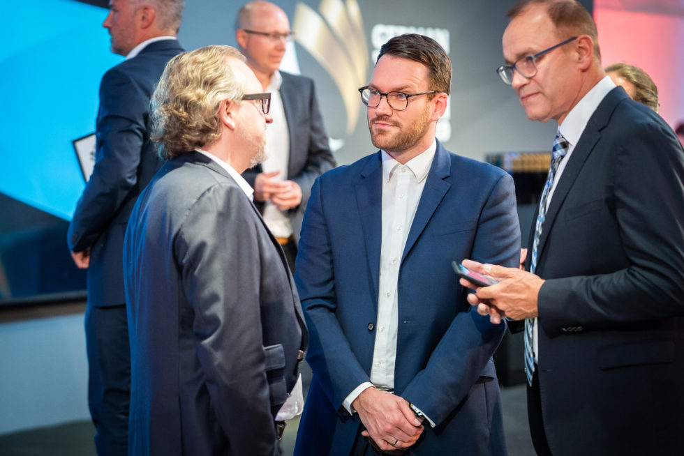Die Preisverleihung des German Innovation Award: Die perfekte Gelegenheit zum Netzwerken. Foto: Martin Diepold / Rat für Formgebung