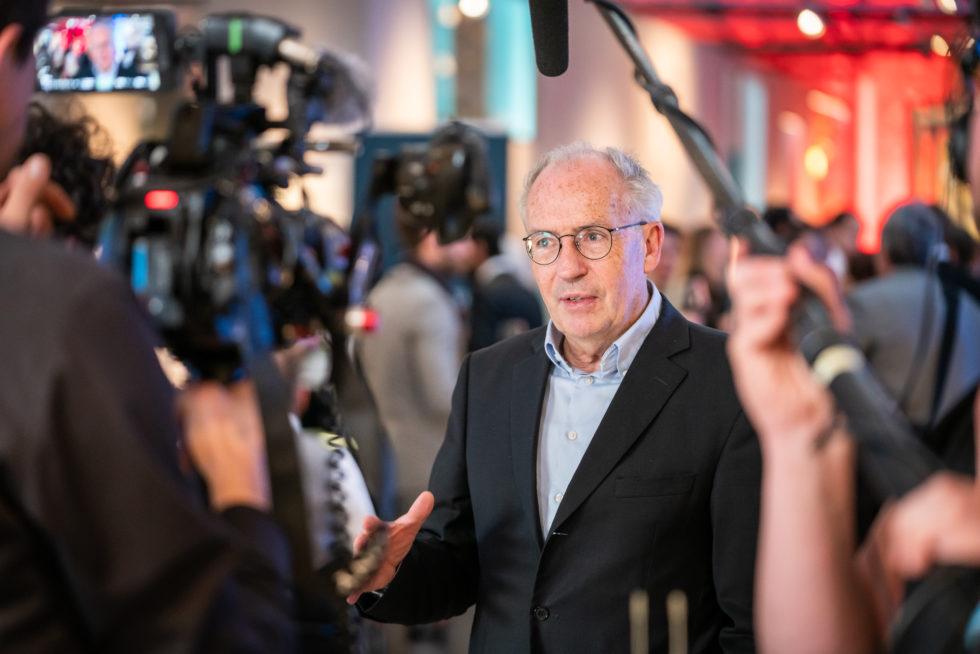 Mediale Aufmerksamkeit auf der Preisverleihung des German Innovation Award 2019. Foto: Martin Diepold / Rat für Formgebung