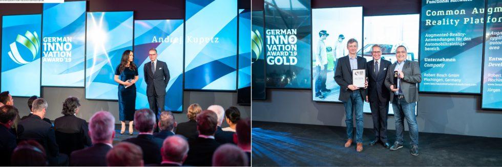 Die Preisverleihung des German Innovation Award 2019 fand im Technikmuseum in Berlin statt. Foto: Martin Diepold / Rat für Formgebung