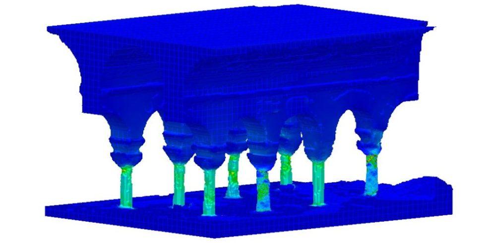 Computermodell der Ayatekla-Basilika-Zisterne