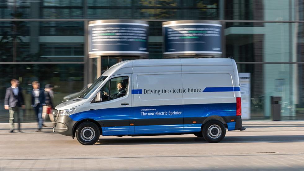 Elektrischer Sprinter von Mercedes-Benz