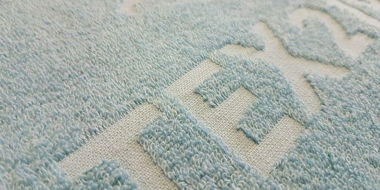 Blaues Handtuch