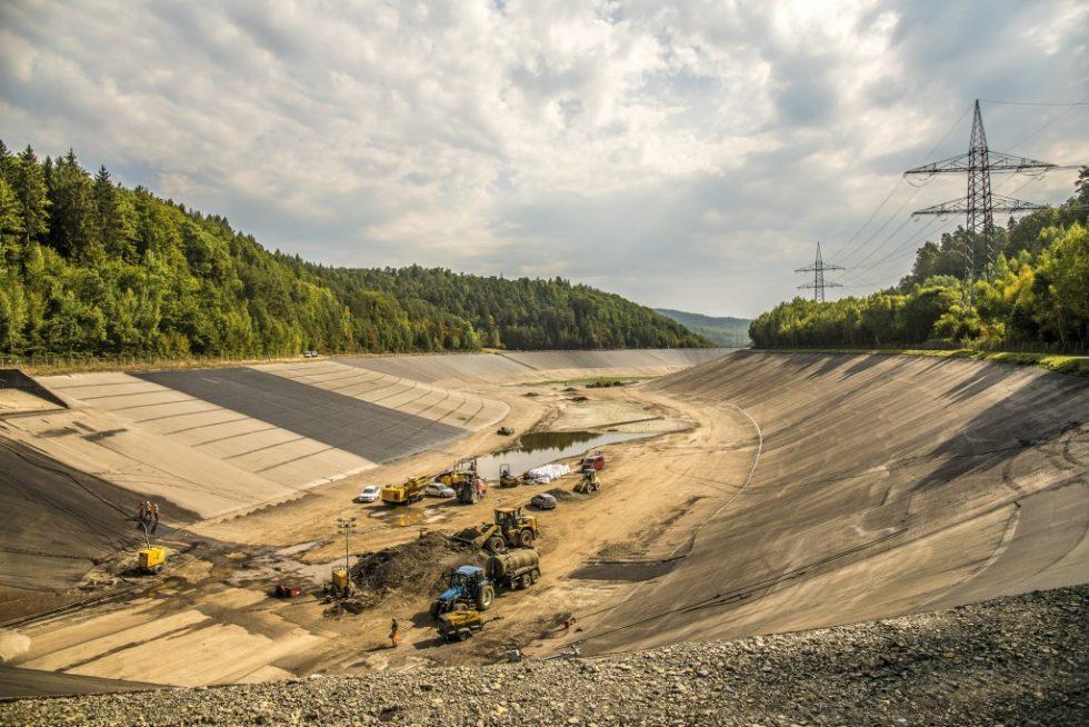 Instandsetzung des Unterbeckens Pumpspeicherkraftwerk Langenprozelten. Bild: Fotografie Wolfgang Philipp