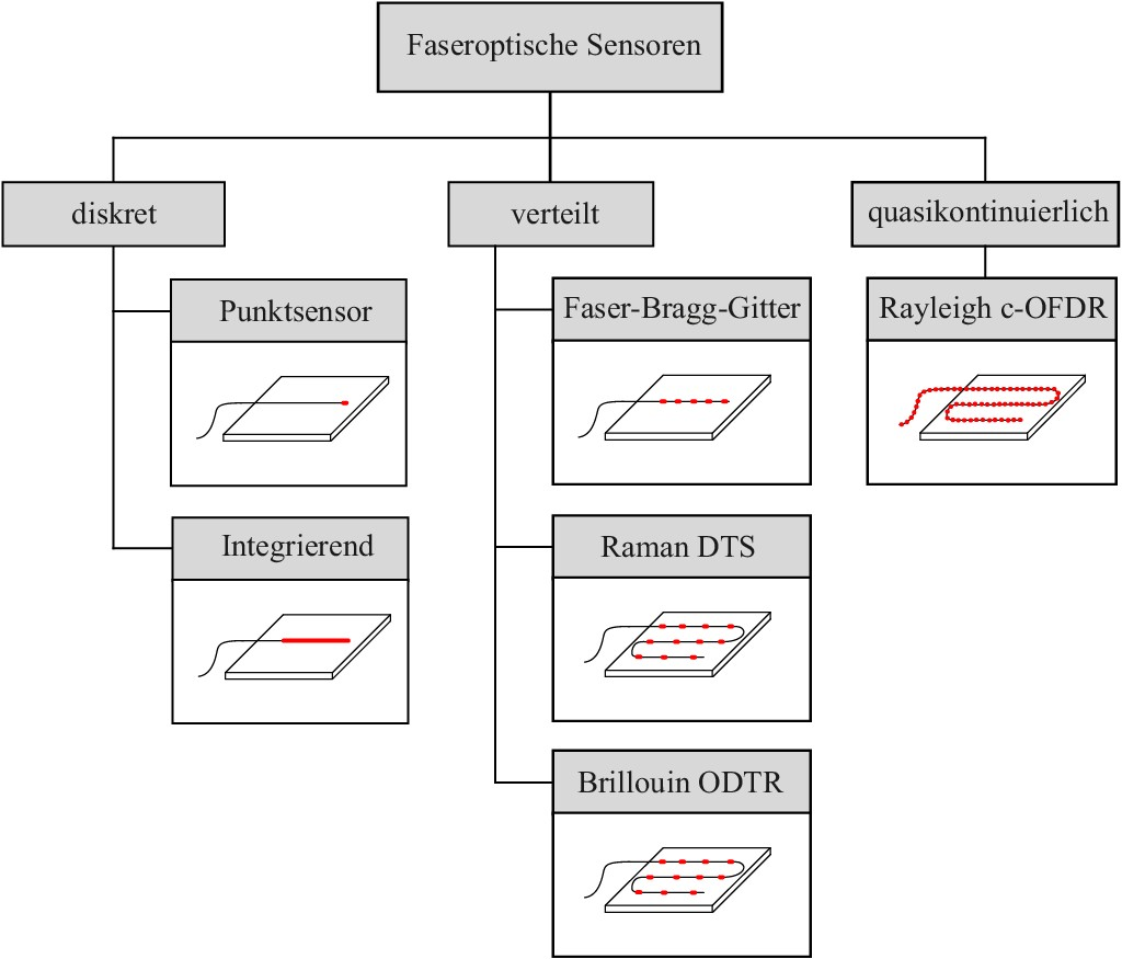 Bild 2. Klassifizierung faseroptischer Messsysteme nach [1]