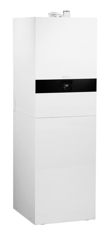 Speziell für Ein- und Zweifamilienhäuser ausgelegt: Die Kompaktheizzentrale Logamax plus GB172iT. Bild: Buderus
