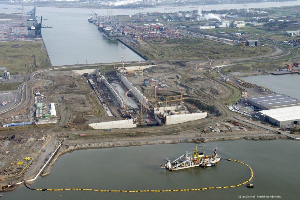 Die größte Seeschleuse der Welt wird den Zugang zum Hafengebiet am linken Scheldeufer sicherstellen und die Wachstumsperspektiven des Hafens Rotterdam stärken. Bild: Port of Antwerp