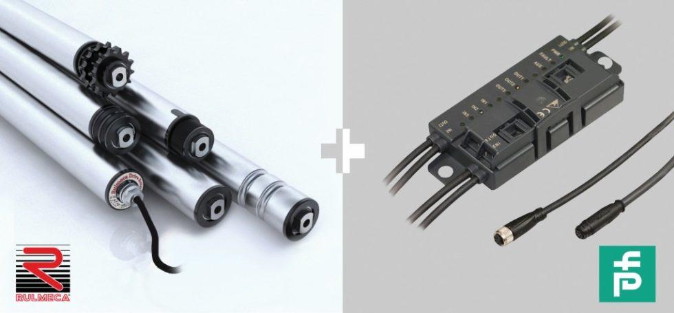 Die Rulmeca BL3 Antriebsrollen und Rollen sowie der Pepperl+Fuchs Controller für staudrucklose Fördertechnik sind aufeinander abgestimmt und können bei Rulmeca aus einer Hand bezogen werden. Bild: Rulmeca/Pepperl+Fuchs