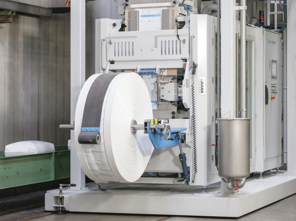 Der Beumer-fillpac FFS – hohe Durchsatzleistung und Verfügbarkeit sowie kompakte Bauweise zeichnen das System aus. Bild: Beumer Group