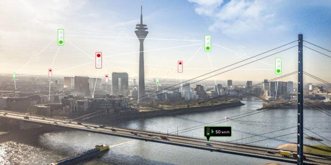 Rheinturm vernetzte Symbole