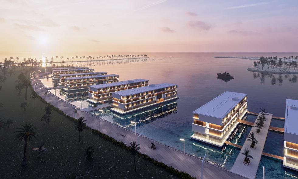 Siedlung schwimmende Hotels Katar