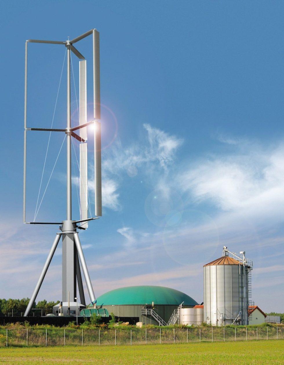 Vertical-Sky-Konzept zur dezentralen Stromversorgung. Bild: Agile Wind Power