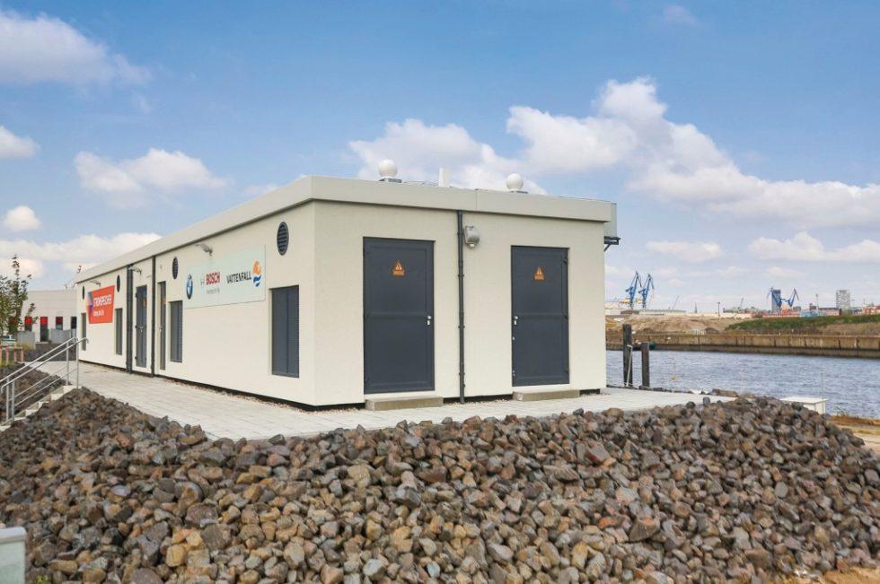 Second-Life-Batteriespeicher (2,8MWh) in Hamburg zur ‧Bereitstellung von ‧Primärregelleistung. Bild: Vattenfall