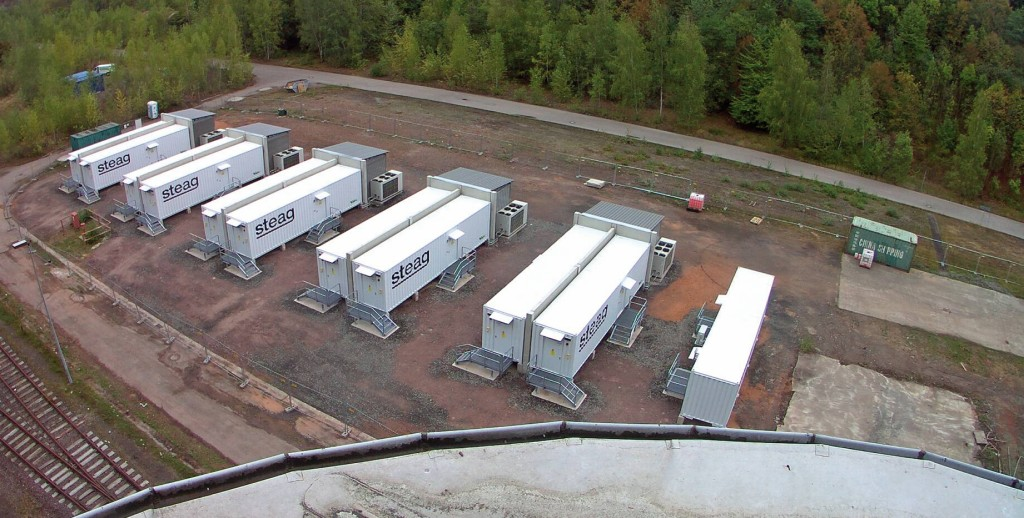 Bild 4 Ansicht des Großbatteriespeichers am Kraftwerksstandort Bexbach. Bild: Steag